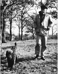 Steinbeck and dog